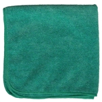 Premium Microfiber Cleaning Cloths 320 GSM, 49 Grams per Cloth, Dark Green, 16x16, Pack of 12