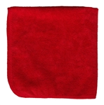 Microfiber Cleaning Cloths, Red, 16x16, Pack of 12