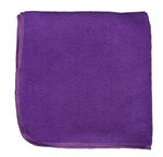 Premium Microfiber Cleaning Cloths, 49 Grams per Cloth, Purple, 16x16, Pack of 12