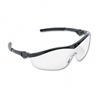 Crews Storm Wraparound Safety Glasses, Black Nylon Fram