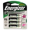 Energizer e² NiMH Rechargeable Batteries, AA, 4 Batteri