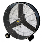 BE Pressure Supply FD36: 36in Drum Fan - 11,200 CFM W/ Wheels & Handle