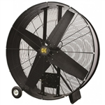 "BE FD42B - 42"" Belt Drive Drum Fan 4 Blade 735 watts 2 Speed"