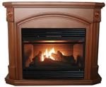 dual fuel fireplace, modern gas fireplaces, montclaire dual fuel gas fireplace, gfd4360