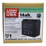 LIFAN 12-Volt 14 Amp Acid Cell Battery for Generators, Pressure Washers and Machines 9 HP and Above GTX14-BS