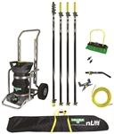 Unger Hydropower nLite 55' Pure Water 2 Stage DI Cart with Carbon Fiber Pole Fed Window Cleaning Kit
