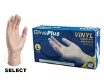AMMEX Gloveplus IVPF Powder Free Vinyl Disposable Gloves 5mil - Large - Case of 1000