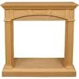 Fireplace Mantel with Trim Kit, M32-M-U, Unfinished