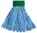 Microfiber Tube Mop Head, Medium, 14 oz, Blue