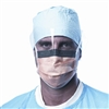 Medline Prohibit Face Mask w/Eyeshield, Polypropylene/C