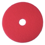 3M Buffer Floor Pad 5100, 17, Red, 5 Pads/Carton # MMM08392