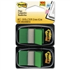 Post-it Standard Tape Flags in Dispenser, Green, 100 Fl