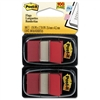 Post-it Standard Tape Flags in Dispenser, Red, 100 Flag