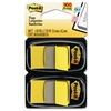 Post-it Standard Tape Flags in Dispenser, Yellow, 100 F