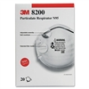 3M N95 Particle Respirator 8200 Mask, 20/Box # MMM8200