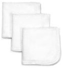 Economy White Terry Wash Cloths- 25 lb. Box
