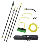Unger HiFlo nLite Water Fed Window Cleaning Pole Kit, HiMod 55'