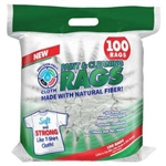 Intex 13.6 x 15, White Precision-Fiber Cloth Rags, 100 ct per Bag