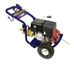 "Mercury Power X-Trem Cold Water High Pressure Washer, 13 HP Honda Gas Engine, 36"" Wand, 50-Foot Hose - with (2) 10"" Wheels"