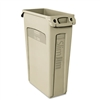 Rubbermaid Commercial Slim Jim Receptacle w/Venting Cha