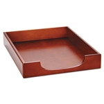 Rolodex Wood Tones Legal Desk Tray, Wood, Mahogany # RO