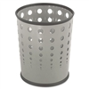 Safco Bubble Wastebasket, Round, Steel, 6 gal, Gray # S