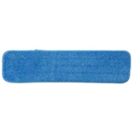 "Microfiber 18"" Low Nap Blue Velcro Floor Cleaning Mop Head SAVE18BLU"