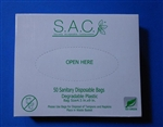 S.A.C. Box, Tampon and sanitary napkin disposal bags with pull off tape seal, 24 box case