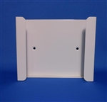 S.A.C. Dispenser for sanitary napkin & tampon disposal bags, box drop in format, no lock, white powder coated steel, 1 unit