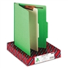 Smead Top Tab Classification Folder w/1 Divider, 4-Sect