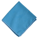 "Microfiber Pack of 12 Blue Suede 16"" Glass Cleaning Cloths SUEDE16"