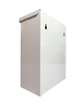 S.A.C. Sanitary Napkin & Tampon Disposal Receptacle -White powder coated steel - 1 Unit # TD1000WH