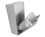 S.A.C. Sanitary Napkin & Tampon Disposal Receptacle - White Powder coated steel- 1 Unit # TD9200WH