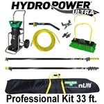 Unger HydroPower Ultra Professional Kit nLite HiMod 33 Ft. Waterfed Pole Kit with an Unger nLite HydroPower Ultra 3-Stage DI Purification System