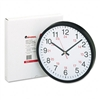 Universal 24-Hour Round Wall Clock, 12-1/2in, Black # U