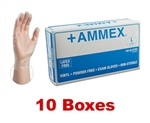 AMMEX Powder Free Vinyl Disposable Gloves VPF 5mil - Medium - Case of 1000