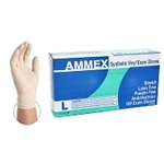 AMMEX Stretch Vinyl Disposable Gloves VSPF 5mil - Large - Case of 1000