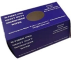 "Carton of 50 Blue 12"" Microfiber Laser Cut Cloths, WIPER12-BLU"
