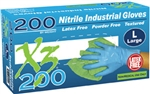 AMMEX Xtreme Nitrile Powder Free Gloves X3D 3mil - Case of 2000