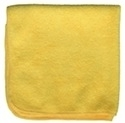 Premium Microfiber Cleaning Cloths, 49 Grams per Cloth, Yellow, 12x12, Pack of 12