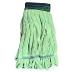Microfiber Tube Mop Head, Medium, 14 oz, Green