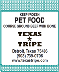 Coarse Ground Beef w / Bone 20 lb case