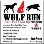 BULK PACK Wolf Run - Beef Tripe Blend 40lb case
