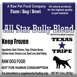 BULK PACK ALL STAR BULLY BLEND 40lb case / 8 - 5lb Chubs