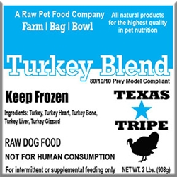 Turkey Blend 20 lb case