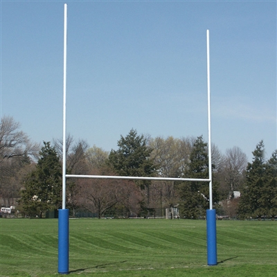 H-Style Football Goal Post Shown in White