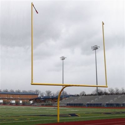Hinged 180 Rotational 8' Offset Football Goal Post