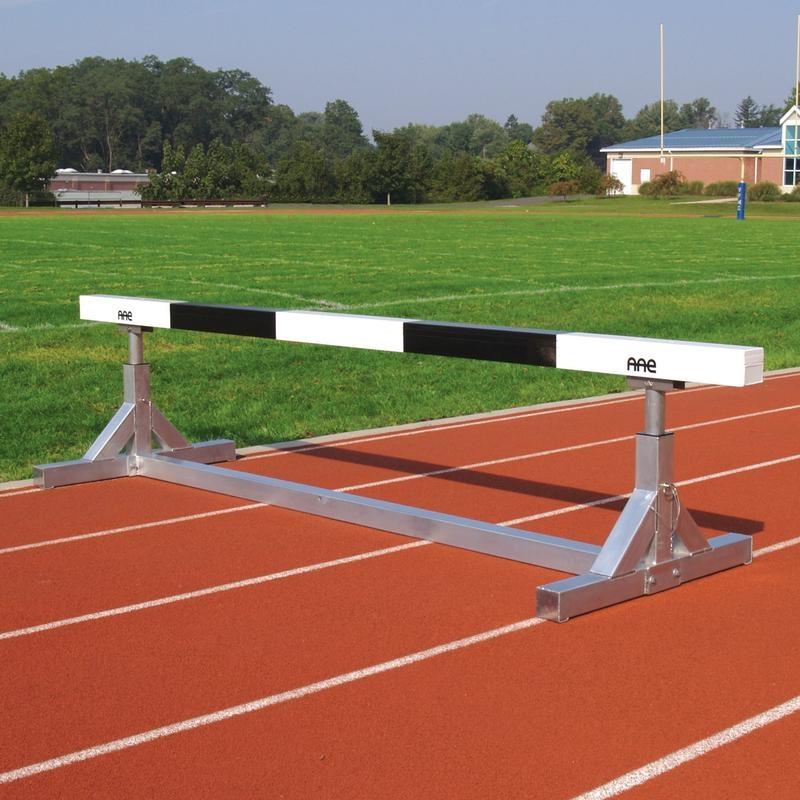 Portable adjustable steeplechase hurdle for Steeple chase