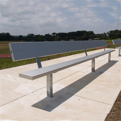 Permanent Team Benches with Backrest