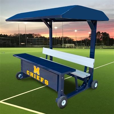 "Portable Unibody 7'-6"" Scorer's Table with Covered Top"